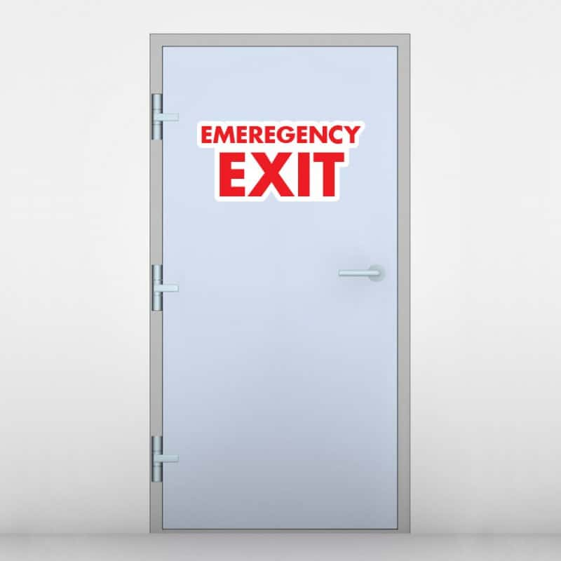 be the first to review emergency exit door graphic cancel reply