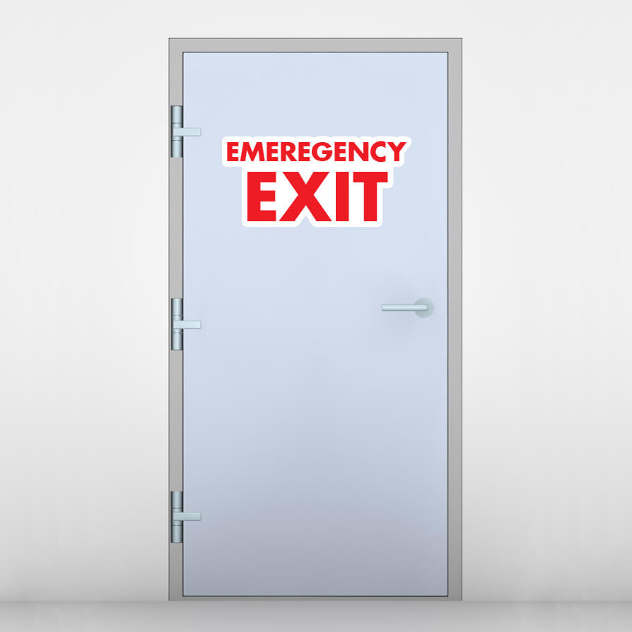 Beau Emergency Exit Door Graphic