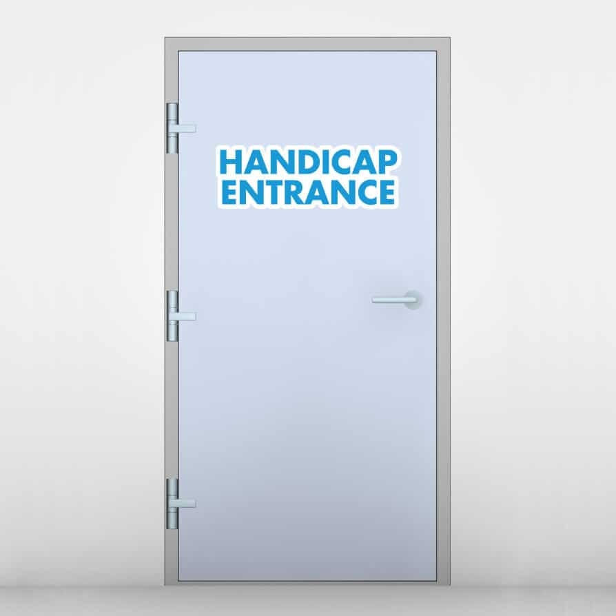 Handicap Entrance Door Graphic
