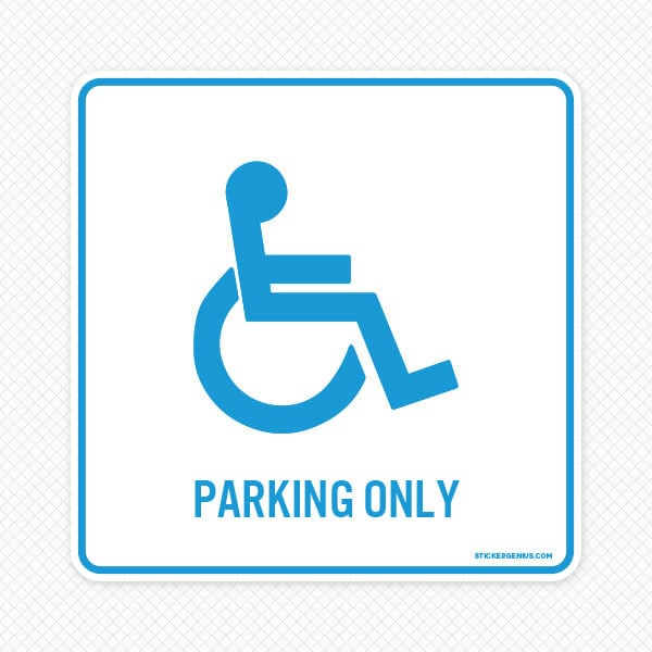 Handicap parking wall graphic sticker genius for Handicap parking sign template