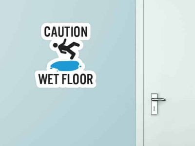 Wet Floor Custom Wall Graphic