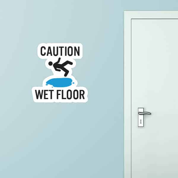 Wet Floor Custom Wall Graphic