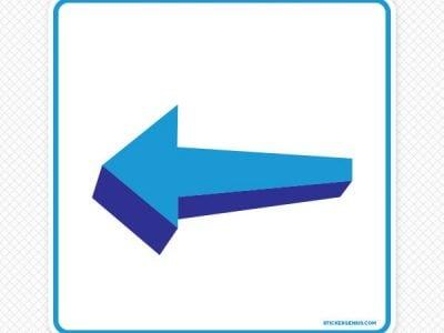 3D Arrow Left