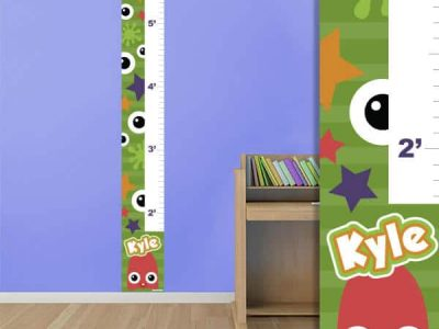 Monsters Repositionable Growth Chart