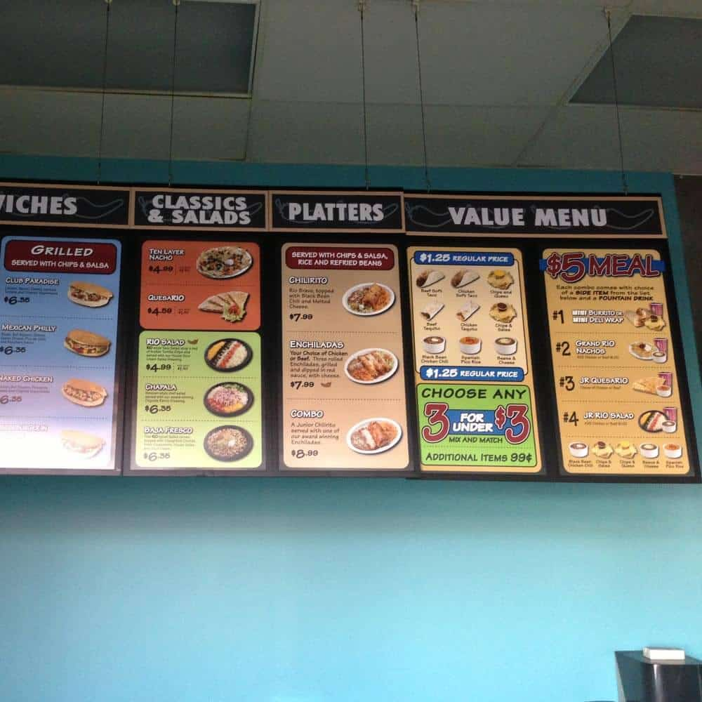 Custom Menu Signs
