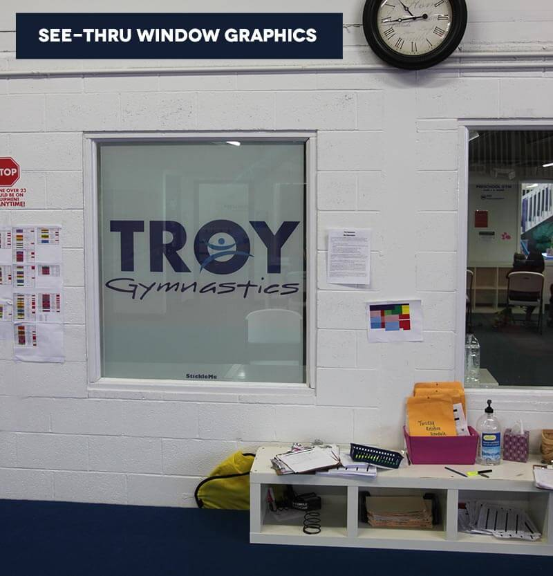 Vinyl Window Graphics Perforated Window Graphics