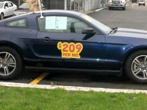 Restickable Vehicle Lease Stickers