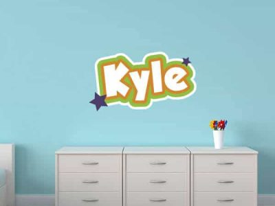 Monsters Theme Wall Name Sticker