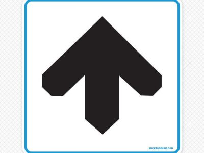 Up Arrow Wall Graphic