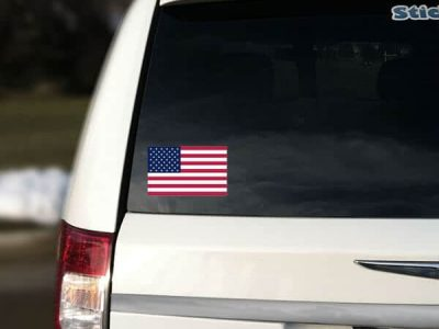 Removable USA Car Sticker