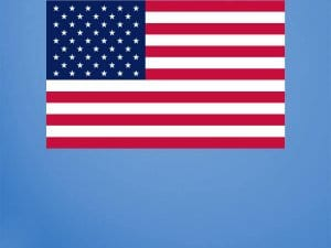 USA Flag Wall Graphic Repositionable
