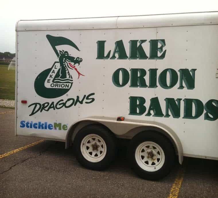 Lake Orion Band Trailer Sticker