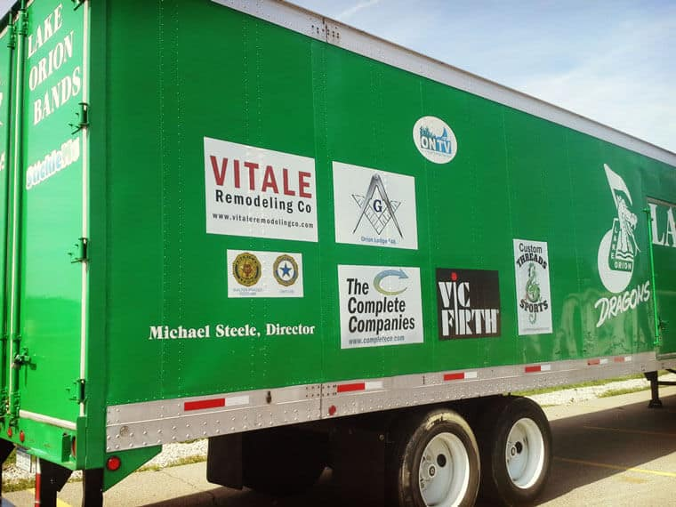 Repositionable Trailer Stickers