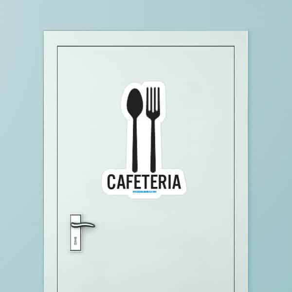 Cafeteria Custom Door Graphic