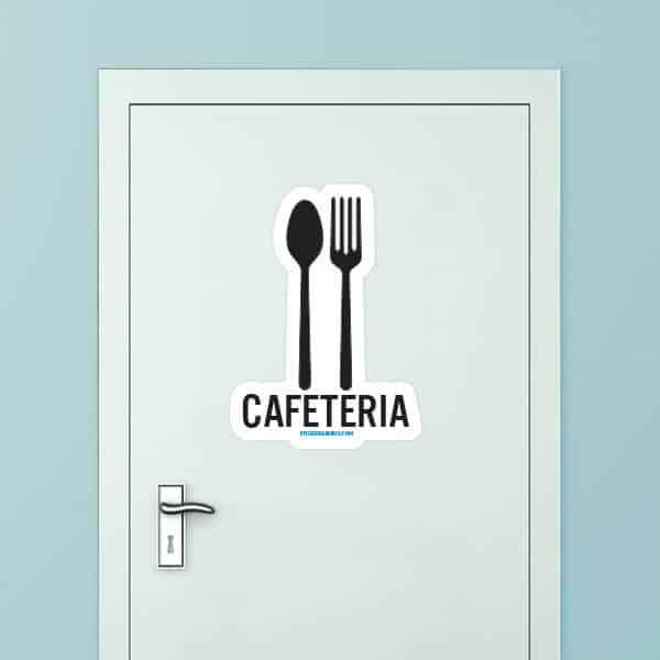 Cafeteria Custom Door Graphic