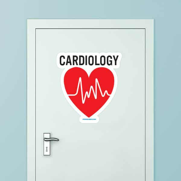 Cardiology Custom Door Graphic