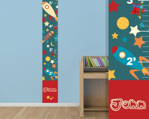 Growth Chart Decal Personalized Growth Chart Sticker Genius