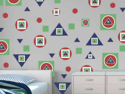 Abstract Shapes Room Theme