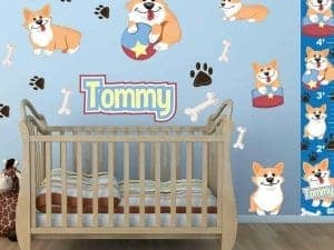 Cute Corgis Wall Graphics Bundled Package