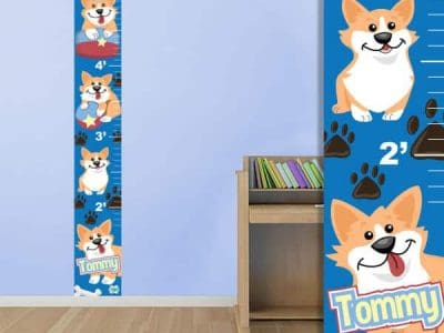 Cute Corgis Theme Growth Chart