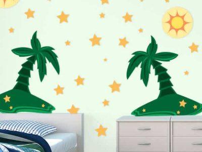 Palm Trees Room Theme