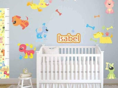 Puppies Room Decor Stickers