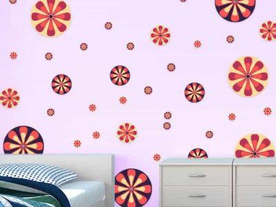 Retro Flowers Room Theme