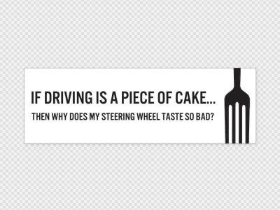 Piece Of Cake Car Sticker Printed