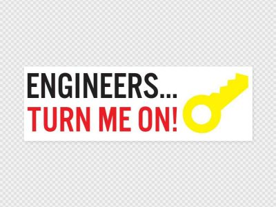 Engineers Turn Me On Bumper Sticker Printed