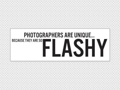 Photographers Are Flashy Bumper Sticker Printed