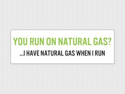 Natural Gas Car Sticker Printed
