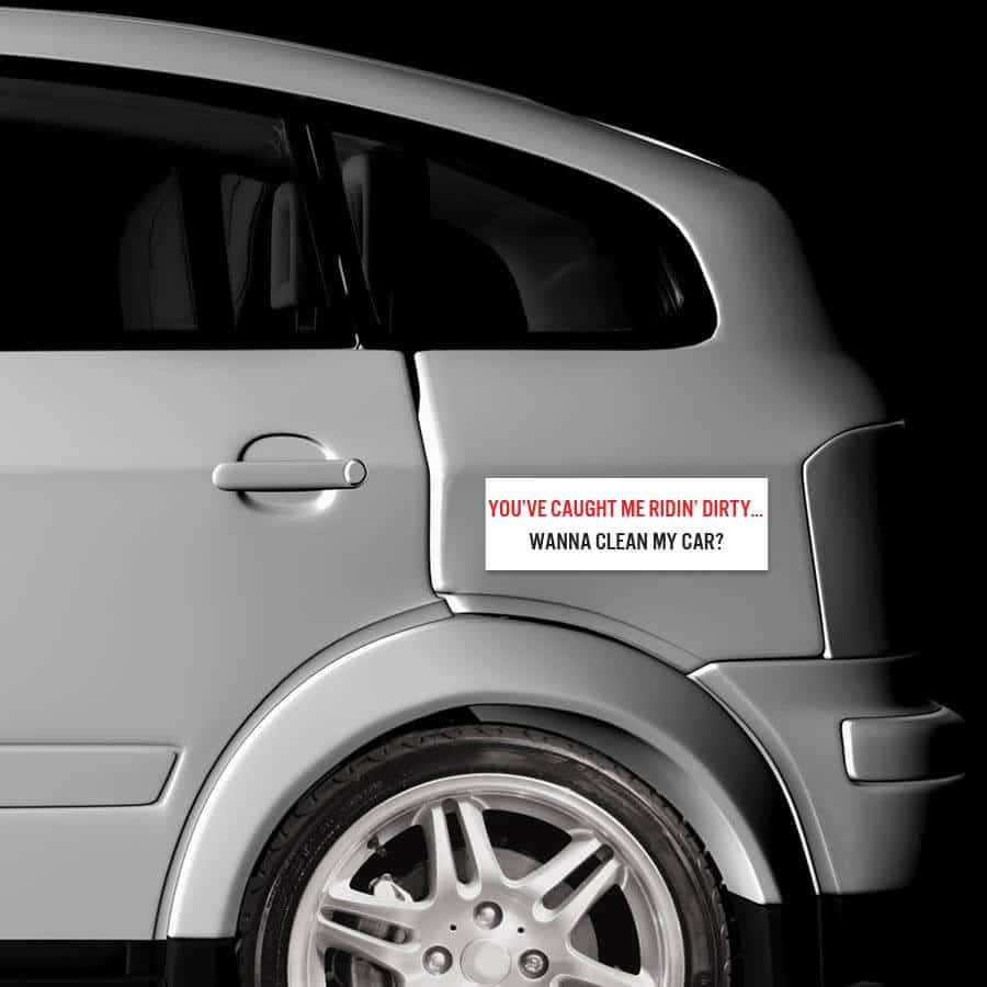 Car bumper sticker designs - Ridin Dirty Bumper Sticker On Car