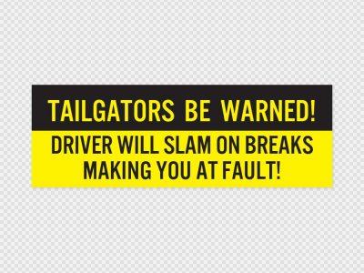 Tailgators Bumper Sticker Printed