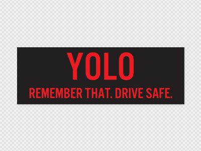 Yolo Bumper Sticker Printed