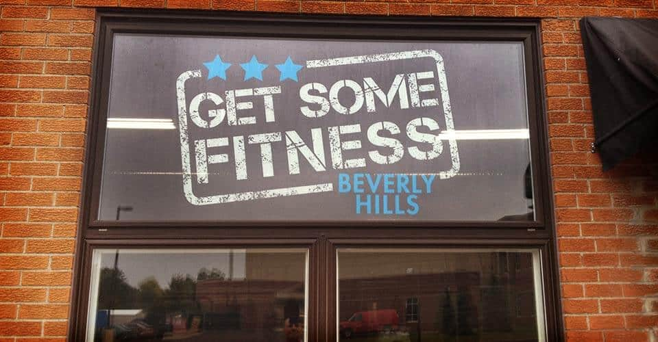 See Thru Window Vinyl Gym Facility Sticker Genius