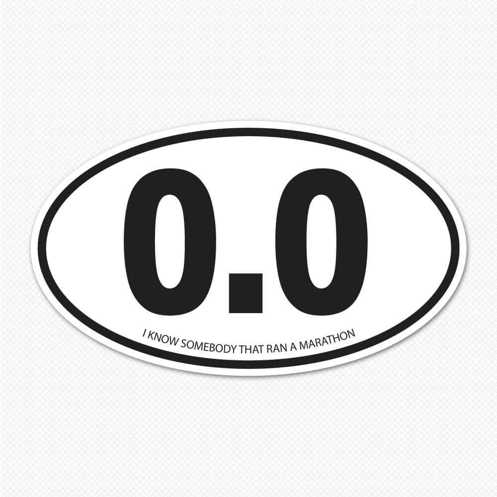 0.0 Marathon Oval Sticker