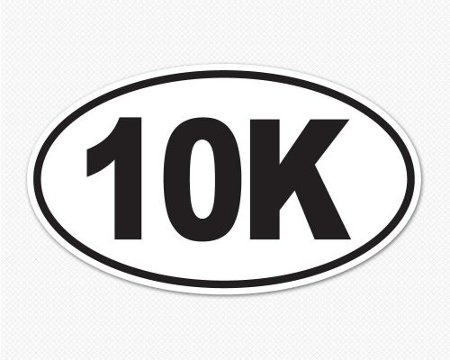 10k oval marathon sticker