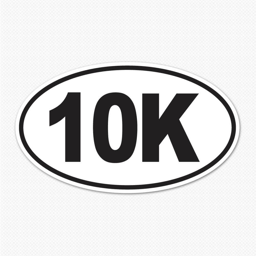10k Sticker Running Bumper Stickers Sticker Genius