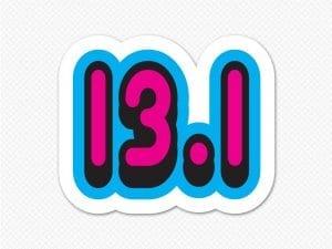 pink 13.1 half marathon bumper sticker