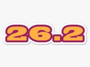 26.2 full marathon orange bumper sticker