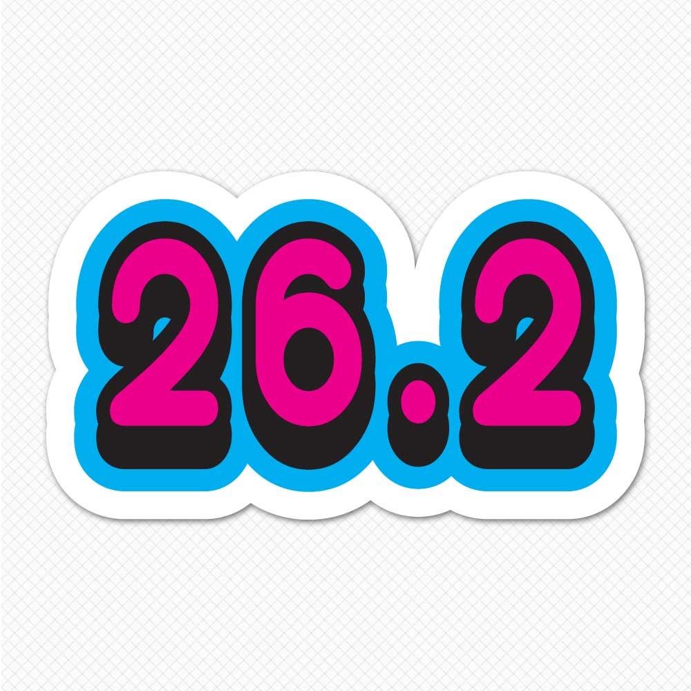 26 2 Bumper Sticker 26 2 Marathon Sticker Sticker Genius