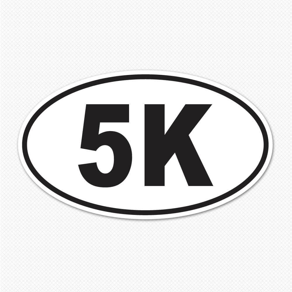 5K Stickers : 5K Bumper Sticker : Sticker Genius