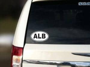 albany car sticker