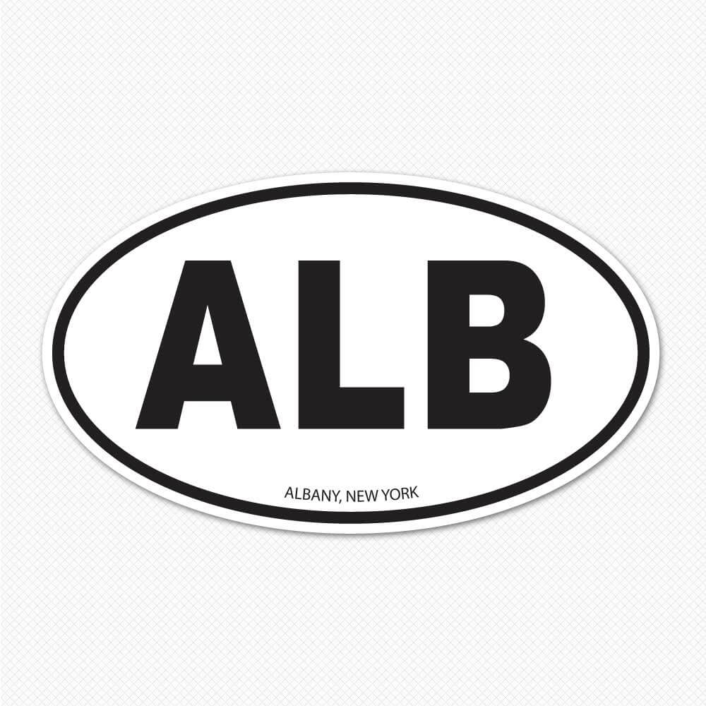 Albany oval alb sticker sticker genius for Oval bumper sticker template