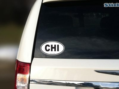 chicago car sticker