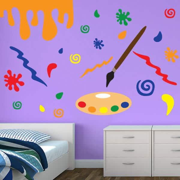 Splatter Paint Restickable Room Decor Sticker Genius