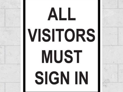 all visitors sign
