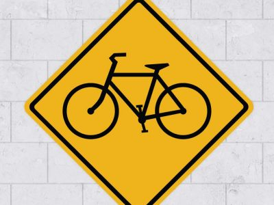 bike sign wall sticker stickleme