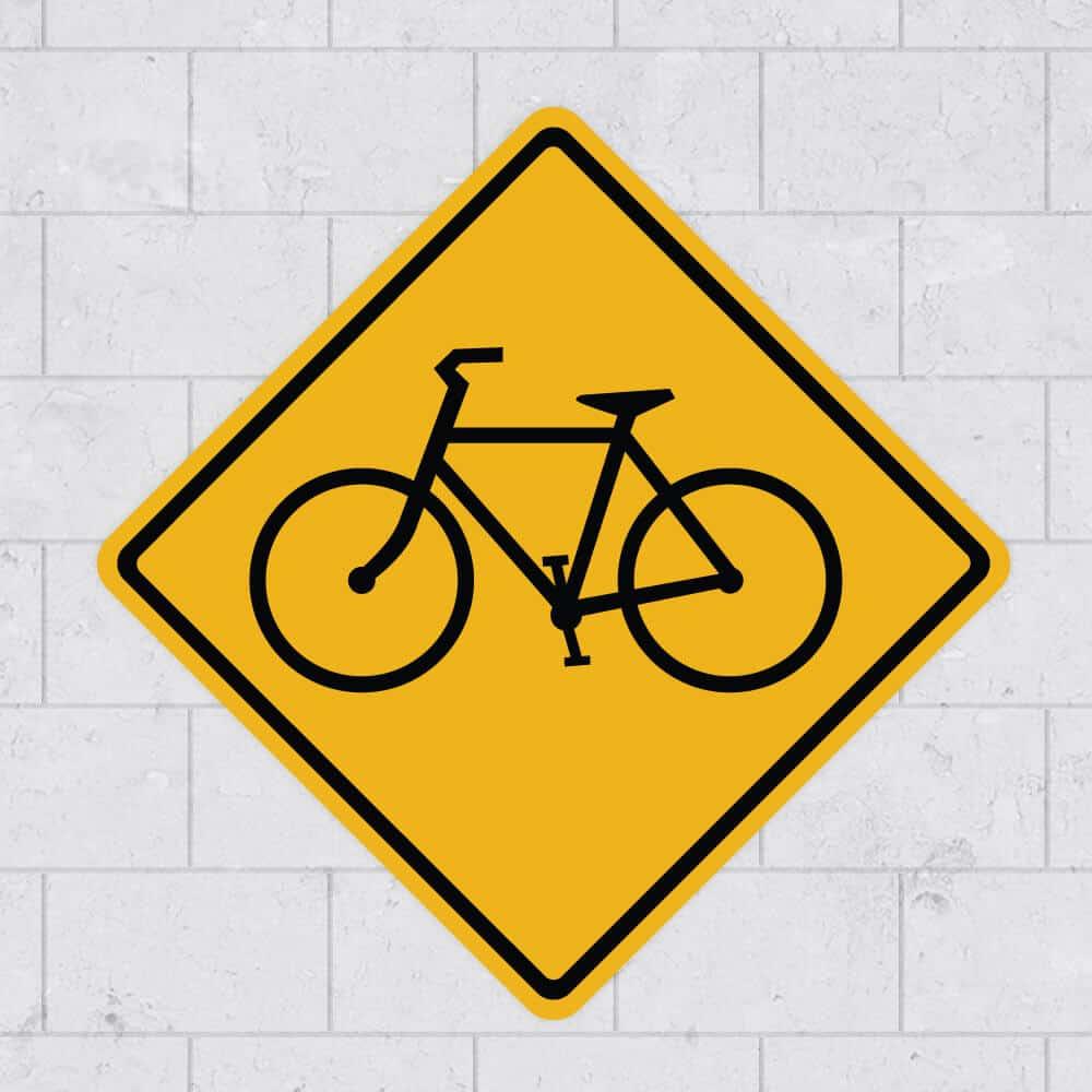 bike sign wall sticker stickleme