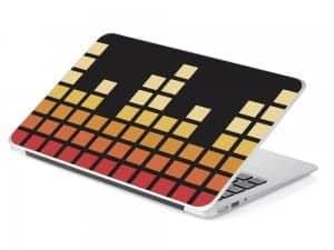 black square device skin music graphic